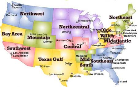 UIIA Regional Map